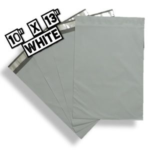 Office - 100 Poly Mailers 10x13 White